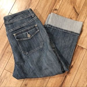 Chico's cropped cuffed jeans